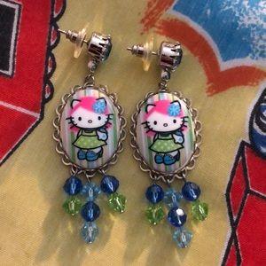 Tarina Tarantino pink head hello kitty earrings